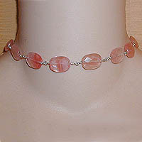 Cherry Quartz Choker