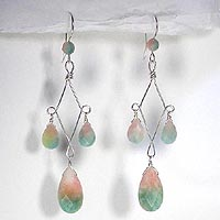 Faceted Candy Jade Chandelier Earrings