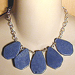 DKC ~ Blue Quartz Teardrops on Sterling Chain