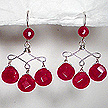 DKC ~ Faceted Ruby Jade Teardrop Earrings