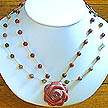 DKC ~ Rhodonite Rose 2 Strand Necklace w/ Rhodonite & Fancy Jasper