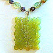 DKC ~ Jade Flower Necklace w/ New Jade & Fancy Jasper