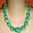 DKC ~ Graduated Turquoise Nugget & Bali Necklace