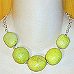 DKC ~ Yellow Turquoise Necklace on Sterling Chain